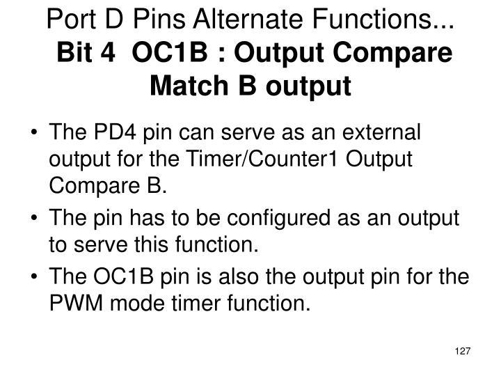 Port D Pins Alternate Functions...