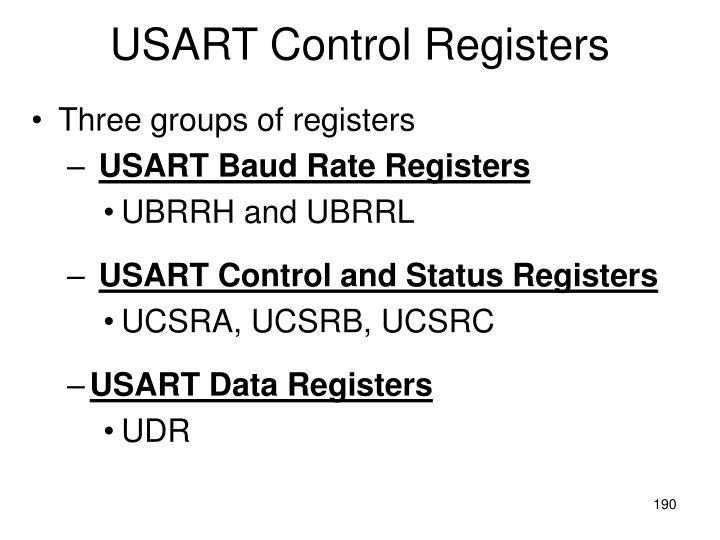 USART Control Registers