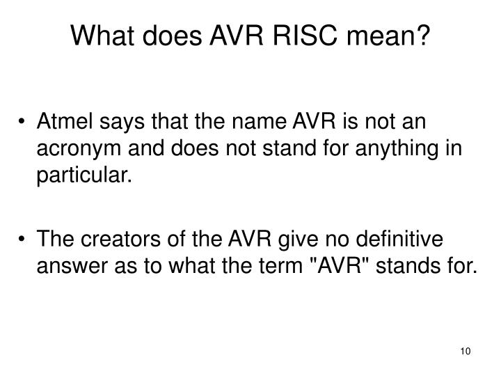 What does AVR RISC mean?
