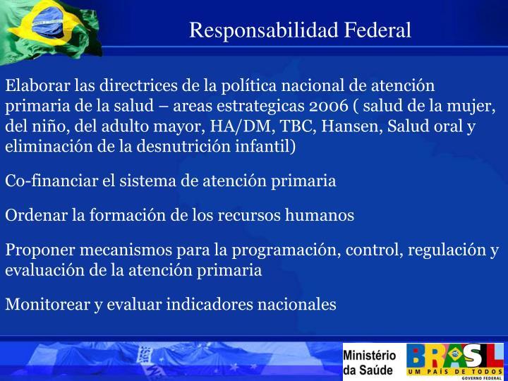 Responsabilidad Federal
