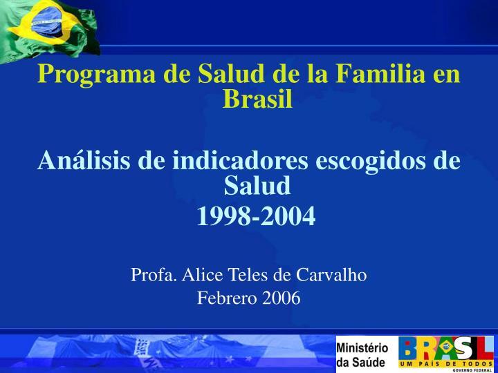 Programa de Salud de la Familia en Brasil