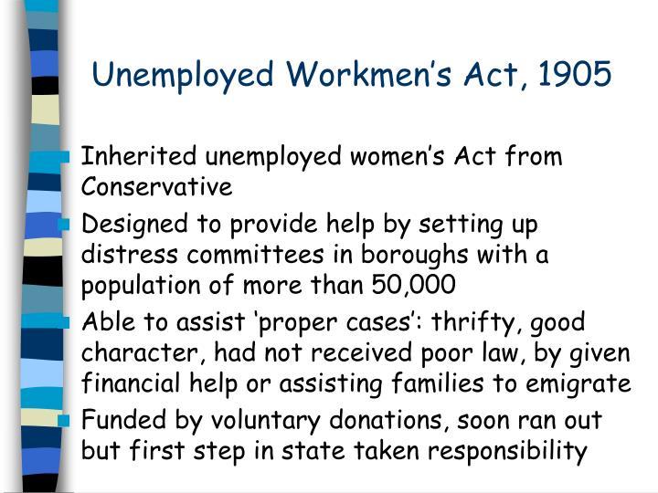 Unemployed Workmen's Act, 1905