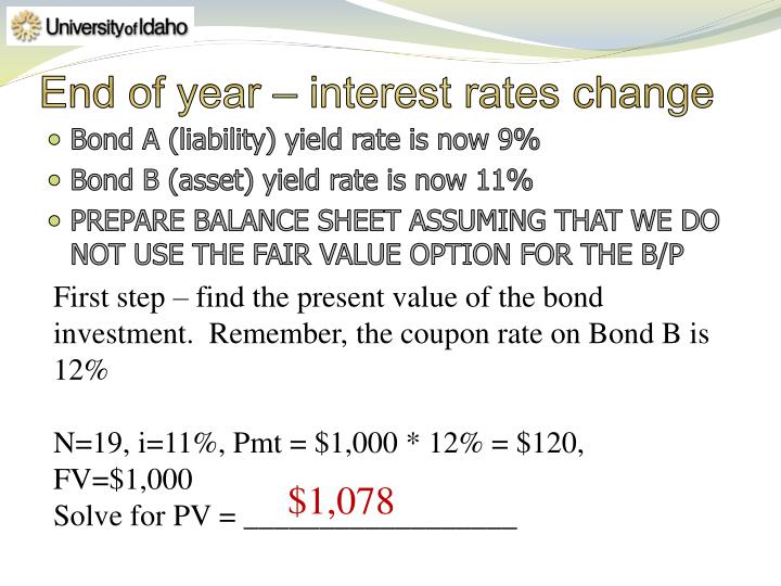 End of year – interest rates change