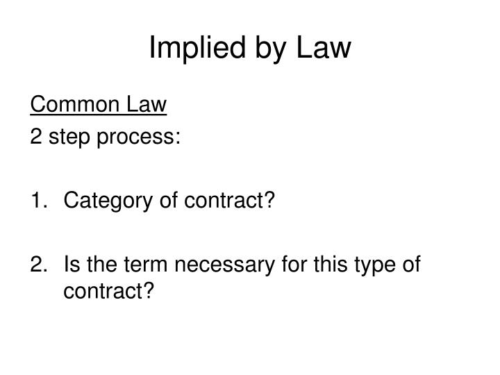 Implied by Law