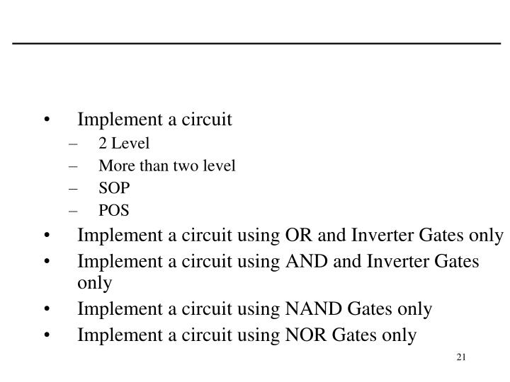 Implement a circuit