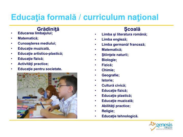 Educaţia formală