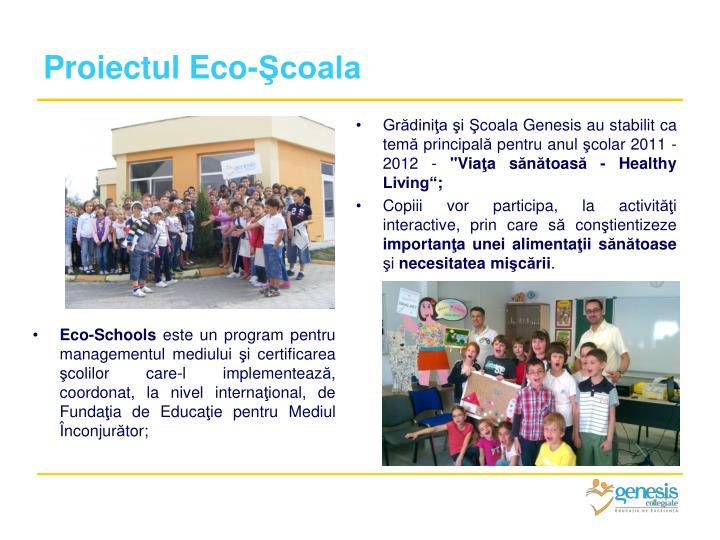 Proiectul Eco-Şcoala