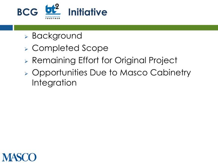 BCG           Initiative