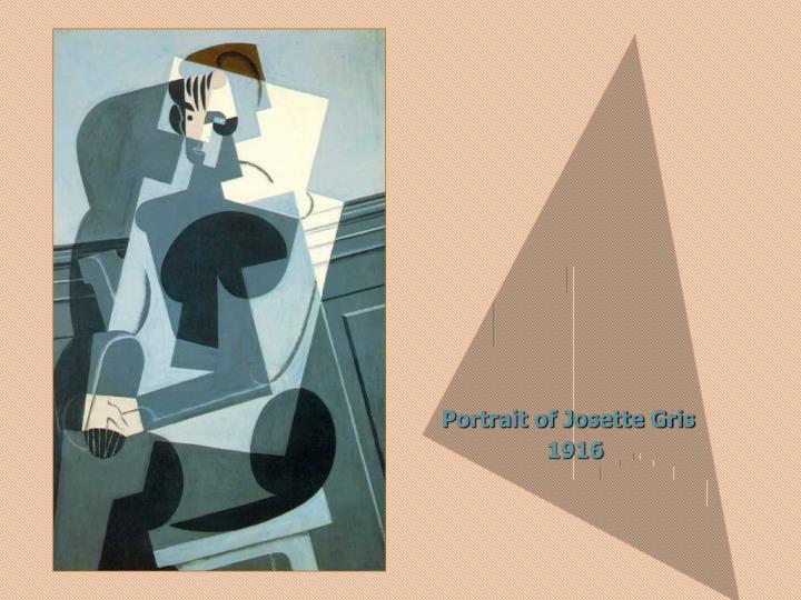 Portrait of Josette Gris