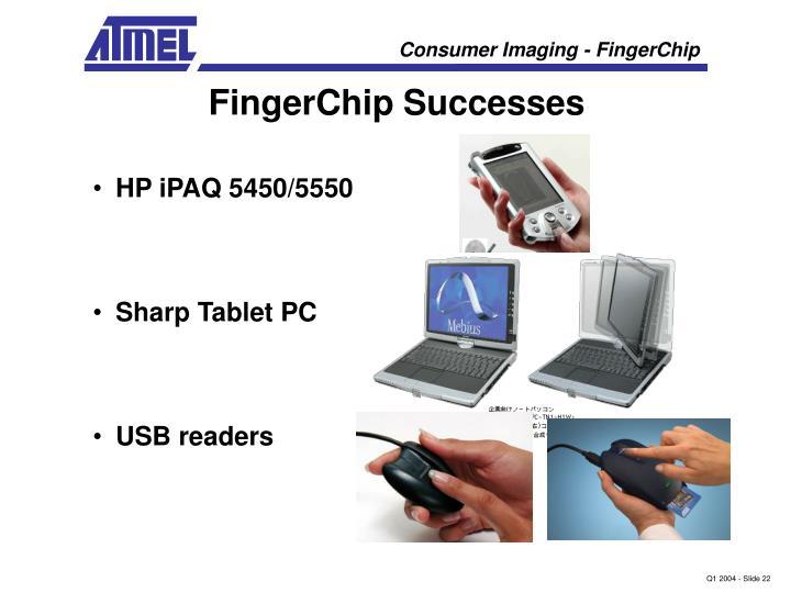 FingerChip Successes