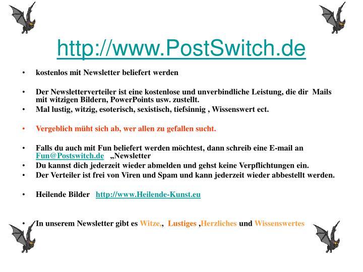 http://www.PostSwitch.de