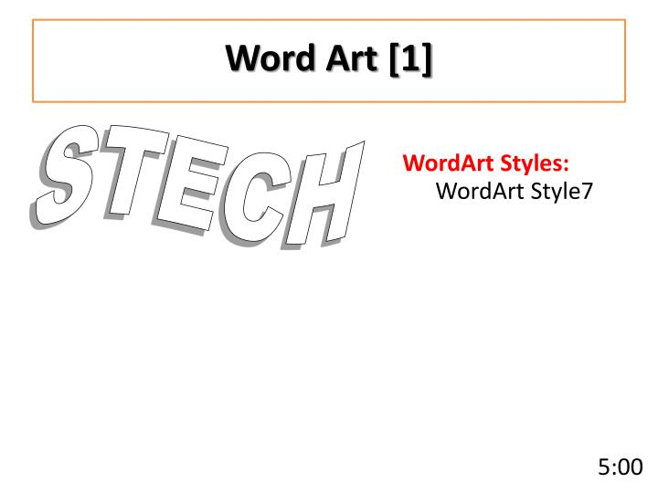 Word Art [1]
