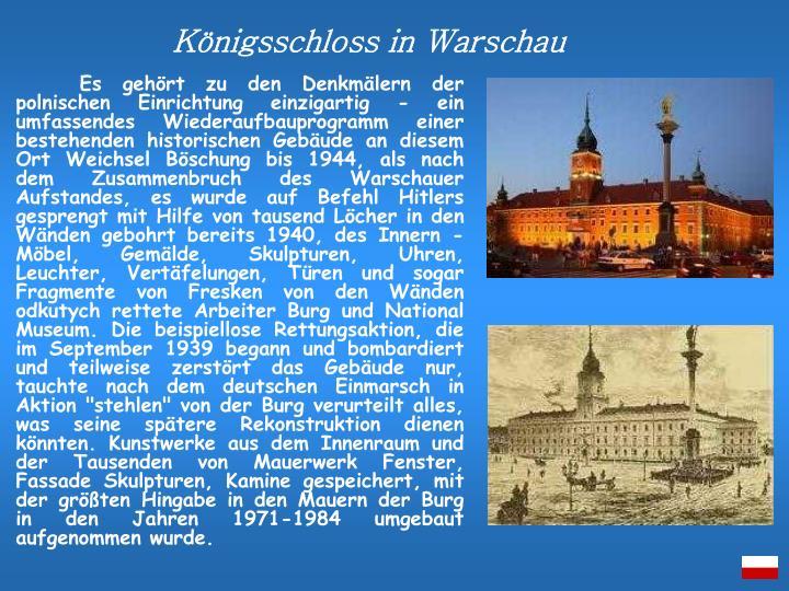 Königsschloss in Warschau
