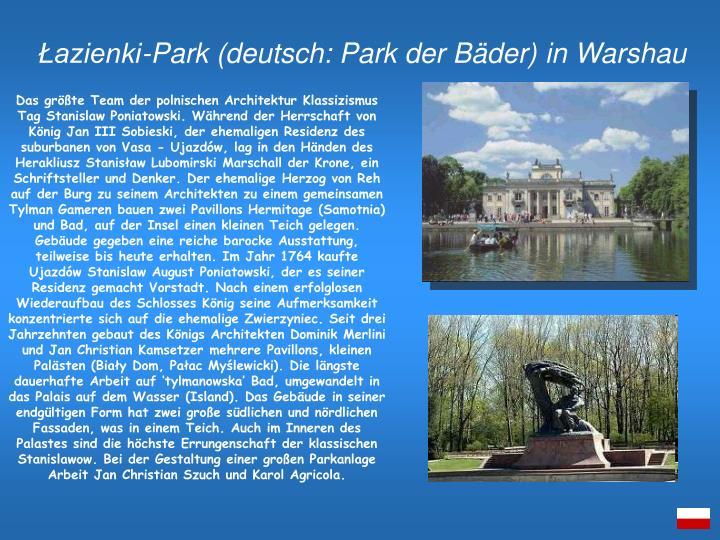 Łazienki-Park (deutsch: Park der Bäder)