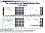 the nominal and the real exchange rate 2009 1997