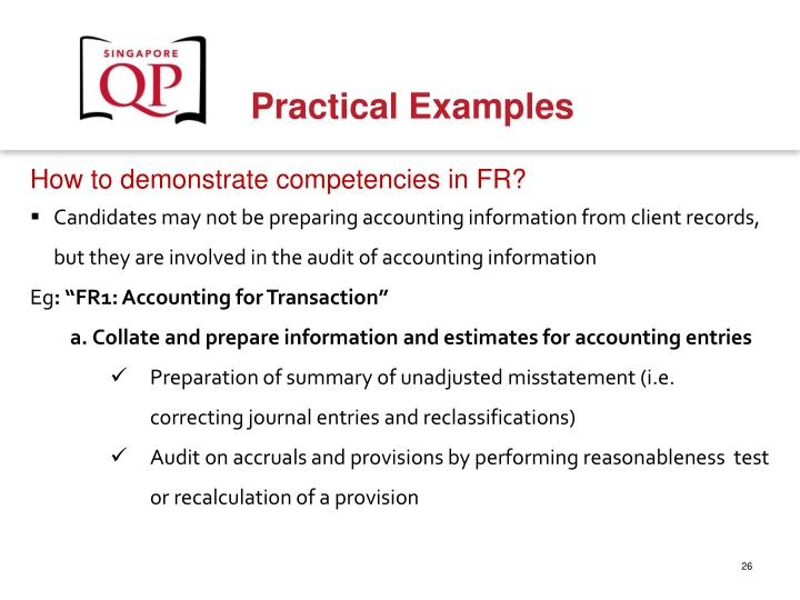 How to demonstrate competencies in FR?
