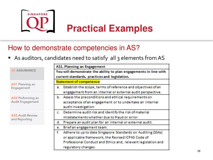 How to demonstrate competencies in AS?