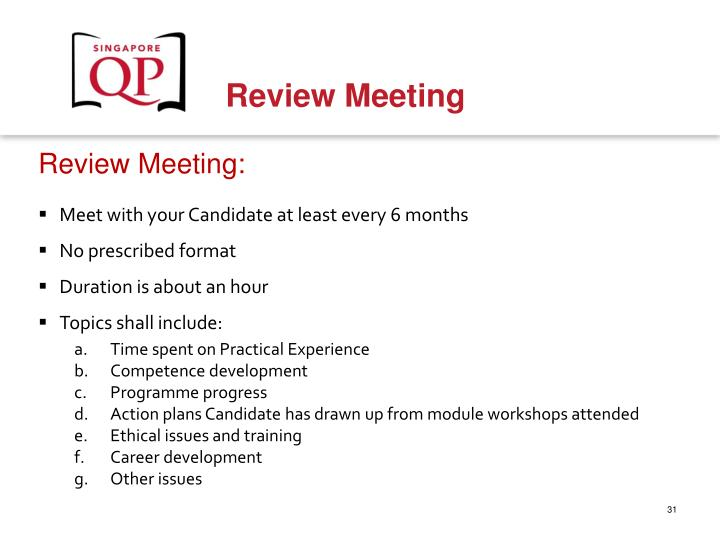 Review Meeting: