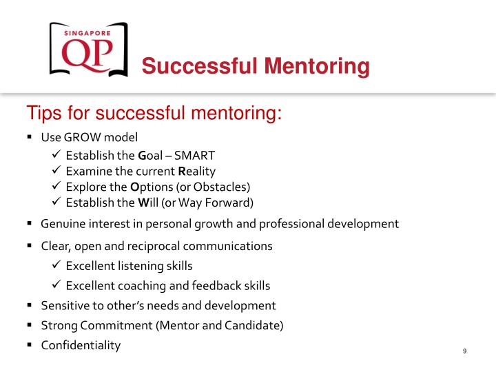 Tips for successful mentoring:
