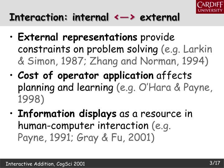 Interaction: internal