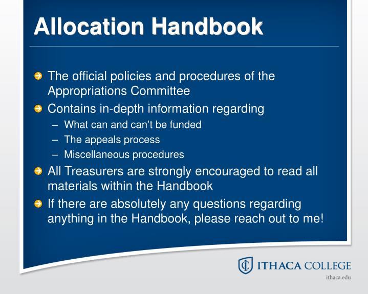 Allocation Handbook