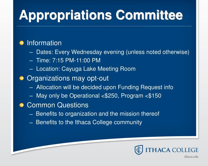 Appropriations Committee