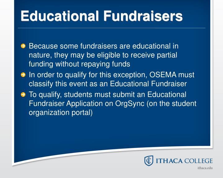 Educational Fundraisers