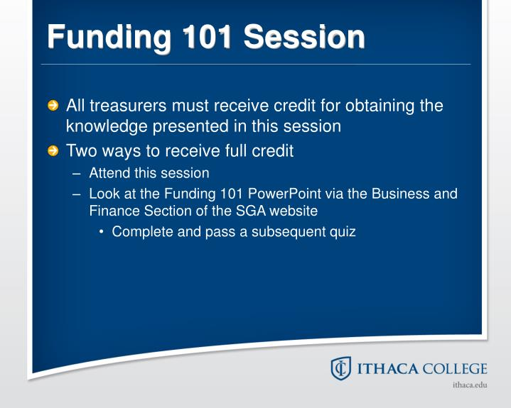 Funding 101 Session
