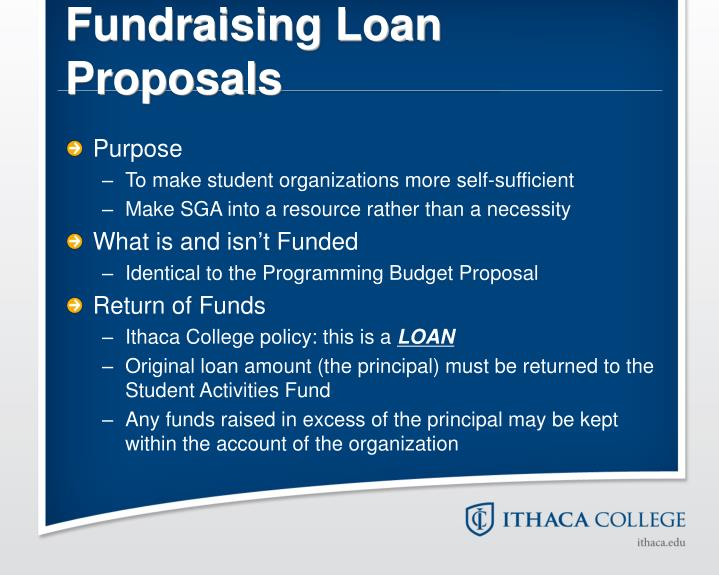 Fundraising Loan Proposals