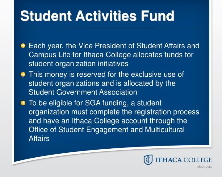 Student Activities Fund