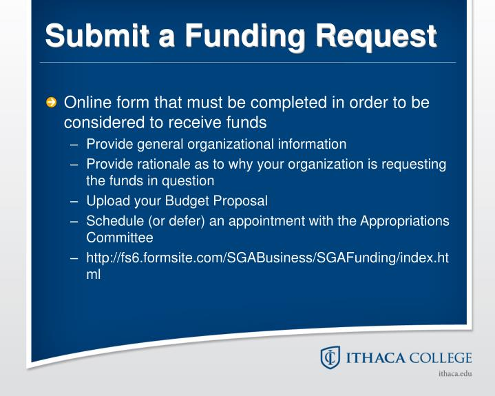 Submit a Funding Request
