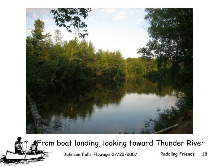 From boat landing, looking toward Thunder River