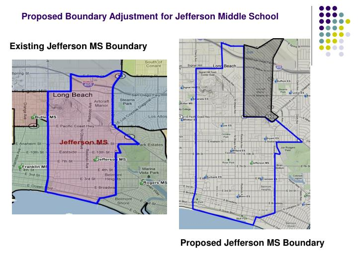 Proposed Boundary Adjustment for Jefferson Middle School