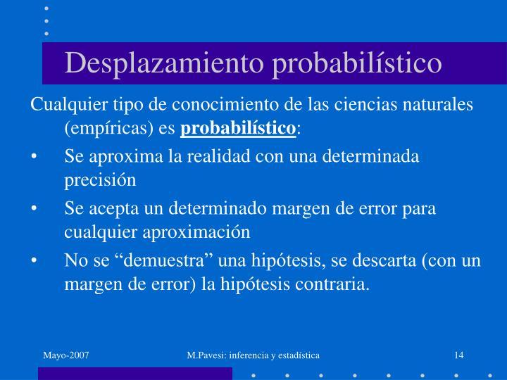 Desplazamiento probabilístico