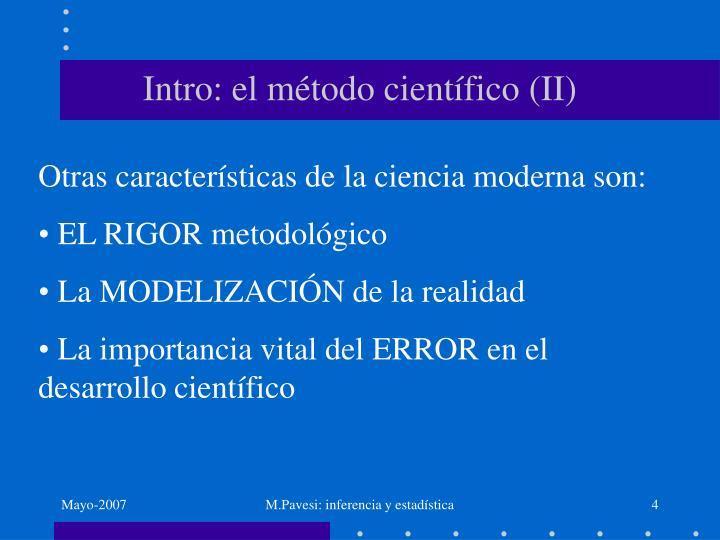 Intro: el método científico (II)