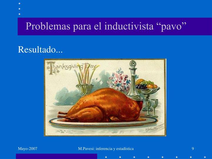 """Problemas para el inductivista """"pavo"""""""