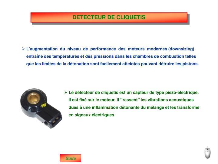 DETECTEUR DE CLIQUETIS