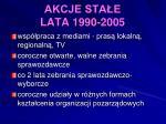 akcje sta e lata 1990 20053