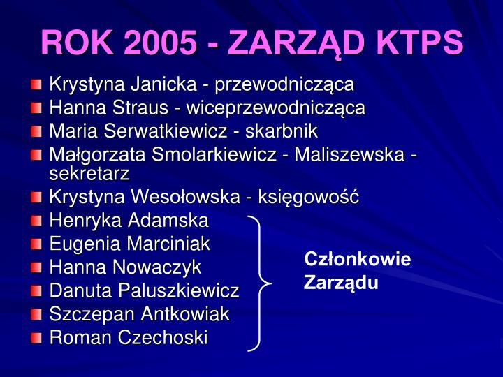 ROK 2005 - ZARZĄD KTPS
