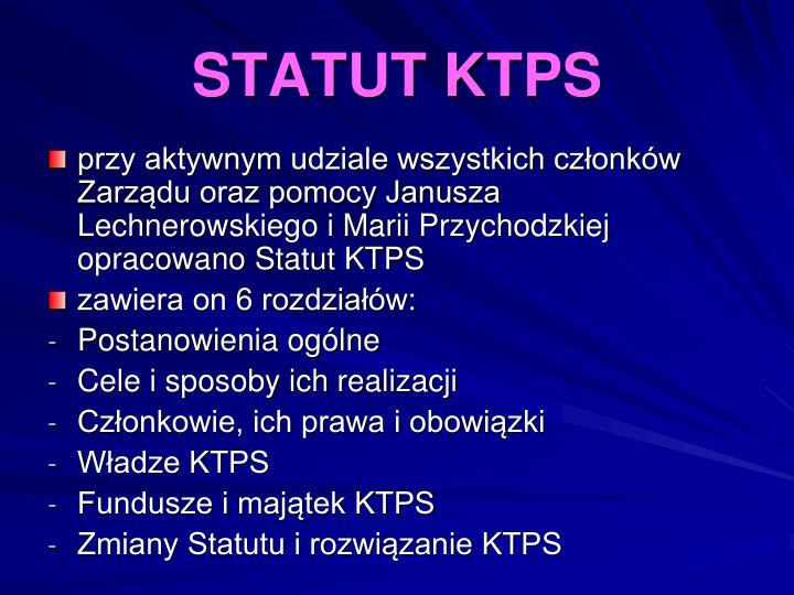 STATUT KTPS