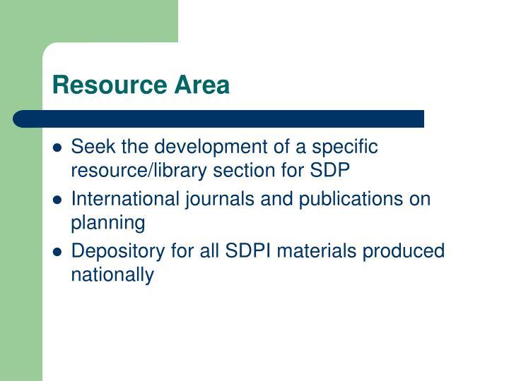 Resource Area