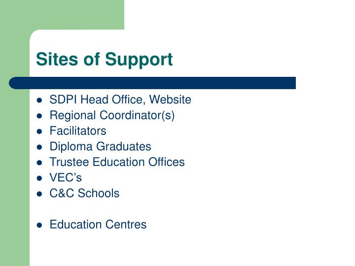 Sites of Support
