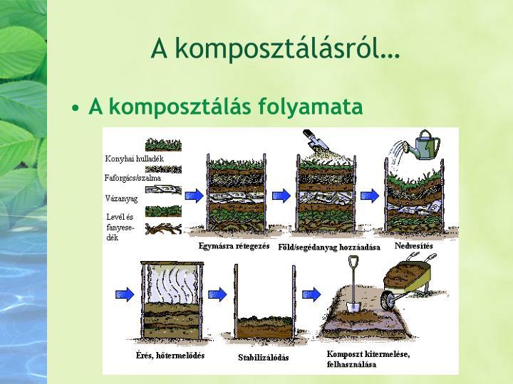 A komposztálásról…