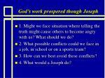 god s work prospered though joseph11