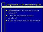 joseph could see the providence of god11