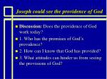 joseph could see the providence of god12