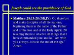 joseph could see the providence of god5