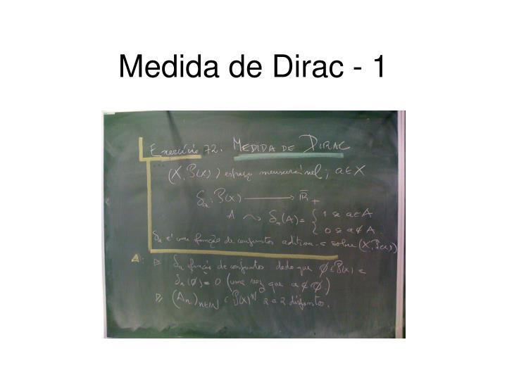 Medida de Dirac - 1
