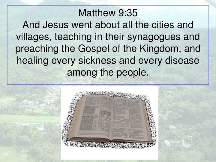 Matthew 9:35