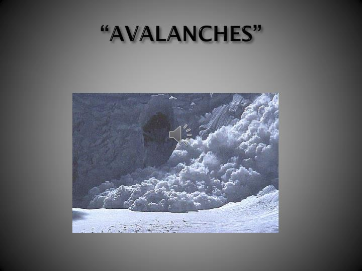 """""""AVALANCHES"""""""